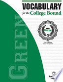 Vocabulary for the College Bound   Green
