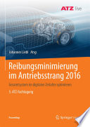 Reibungsminimierung im Antriebsstrang 2016