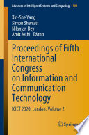 Proceedings Of Fifth International Congress On Information And Communication Technology