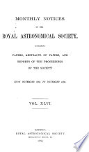 Monthly Notices of the Royal Astronomical Society