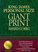 Giant Print Personal Reference Bible KJV