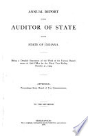 Annual Report of the Auditor of State