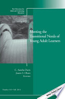 Meeting The Transitional Needs Of Young Adult Learners book