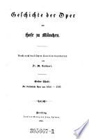 Geschichte der Oper am Hofe zu M  nchen