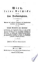 Wien, seine geschicke und seine denkwürdigkeiten