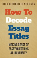 How to Decode Essay Titles