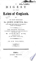 A Digest of the Laws of England