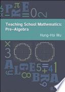 Teaching School Mathematics  Pre Algebra