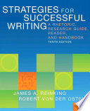 Strategies for Successful Writing A Rhetoric  Research Guide  Reader and Handbook