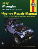 Jeep Wrangler 1987 Thru 2003