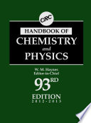 CRC Handbook of Chemistry and Physics  93rd Edition