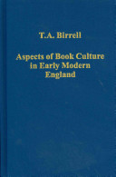Aspects of Book Culture in Early Modern England