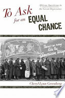 Ebook To Ask for an Equal Chance Epub Cheryl Lynn Greenberg Apps Read Mobile