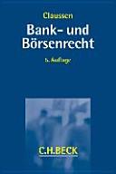 Bank- und Börsenrecht