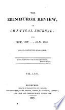 THE EDINBURGH REVIEW OR CRITICAL JOURNAL FOR OCT. 1837 ... JAN. 1838