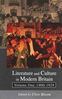 Literature and culture in modern Britain