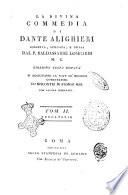 La Divina Commedia di Dante Alighieri corretta  spiegata  e difesa dal P  Baldassarre Lombardi     Tom  1    3