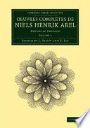 illustration Oeuvres Complètes de Niels Henrik Abel
