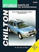 Chilton S Hyundai Santa Fe 2001 06 Repair Manual