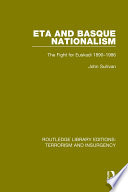 Eta And Basque Nationalism Rle Terrorism Insurgency