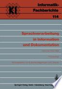 Sprachverarbeitung in Information und Dokumentation