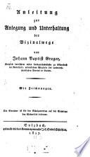 Anleitung zur Anlegung und Unterhaltung der Vizinalwege