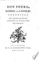 Don Pedro Koning Van Castilje