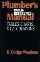 Plumber s Quick Reference Manual  Tables  Charts  and Calculations