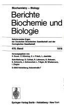 Berichte Biochemie und Biologie