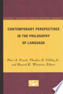 Contemporary Perspectives in the Philosophy of Language
