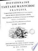 Dictionnaire tartare mantchou fran  ois compos   d apr  s un dictionnaire mantchou chinois  r  dig   et publ  avec des additions par L  Langl  s