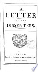A Letter to the Dissenters