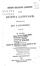 Short reading lessons in the Ojibwa language