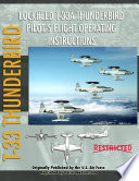 lockheed t 33 thunderbird shooting star pilot s flight operating manual
