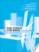 The Thesis And The Book book