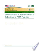 Determinants Of Entrepreneurial Behaviour In Fata Pakistan