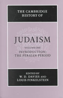 The Cambridge History of Judaism Judaism Cover The History Of The Jews From