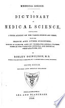 A Dictionary of Medical Science