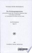 Die Kirchengutsgarantien und die Bestimmungen über Leistungen der öffentlichen Hand an die Religionsgesellschaften im Verfassungsrecht des Bundes und der Länder