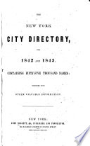 The New York City Directory, for ...