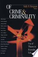 Of Crime And Criminality