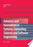 Advances and Innovations in Systems  Computing Sciences and Software Engineering
