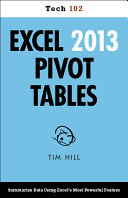 Excel 2013 Pivot Tables