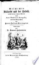 Geschichte Abälards und der Heloise ...