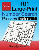 Funster 101 Large Print Number Search Puzzles  Volume 1