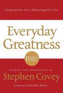Everyday Greatness book