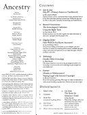 Ancestry Newsletter