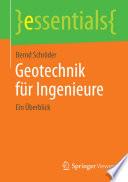 Geotechnik für Ingenieure