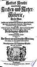 Unpartheysche Kirchen- u. Ketzer-Historie