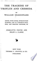 The Tragedie of Troylus and Cressida  by William Shakespeare